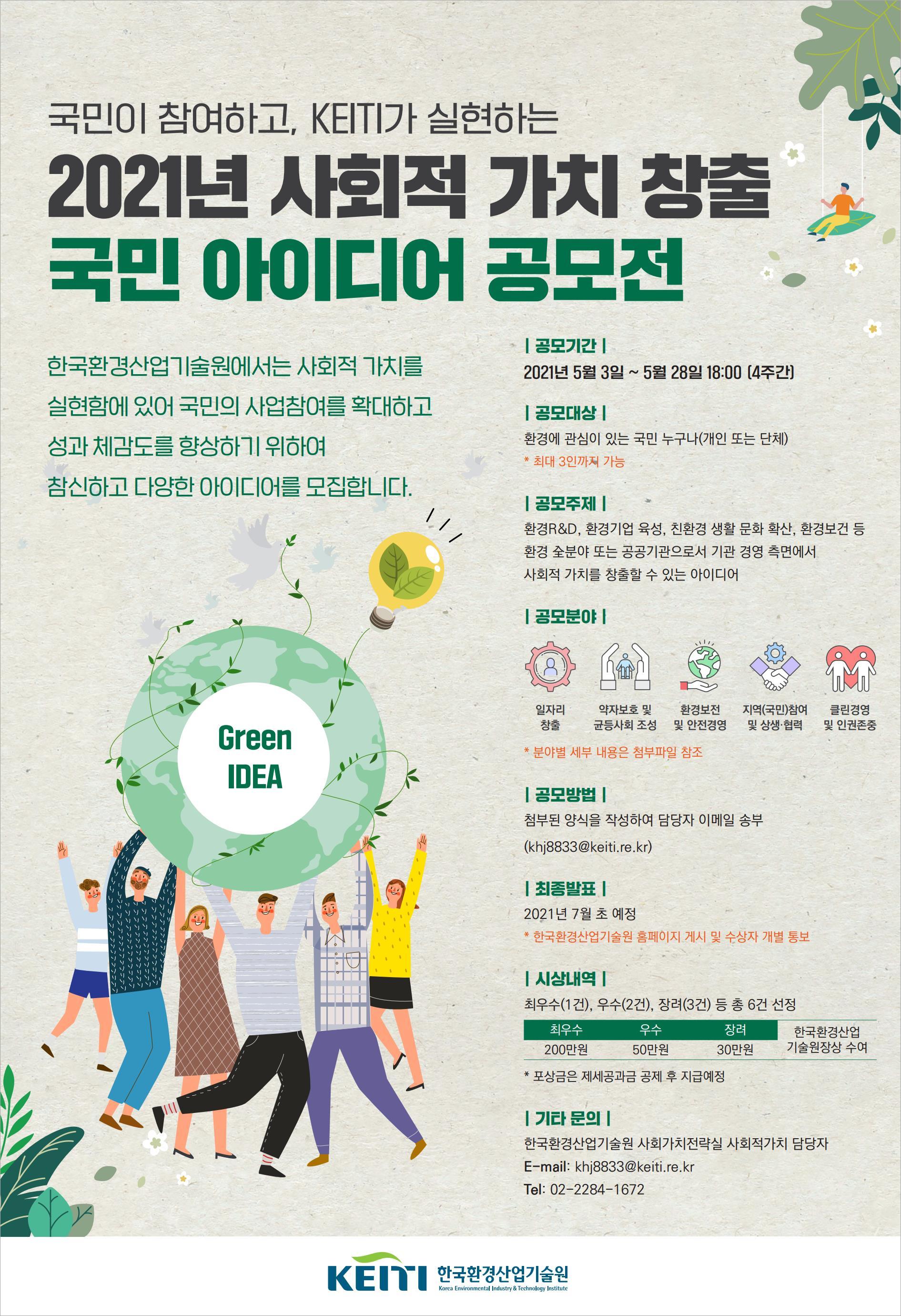 2021년 사회적 가치 창출 국민 아이디어 공모전